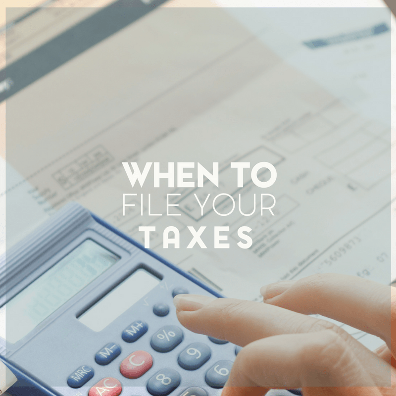 When to File Your Tax Return and Determining Your Filing Status in 2020 1