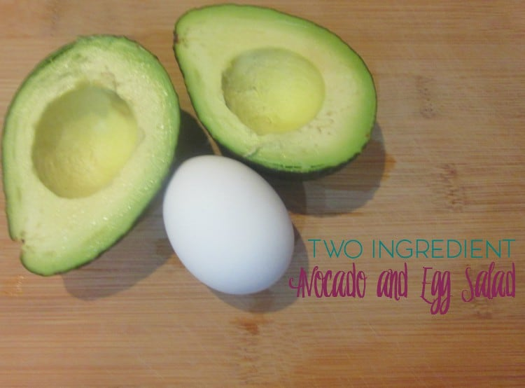 Two Ingredient Avocado and Egg Salad