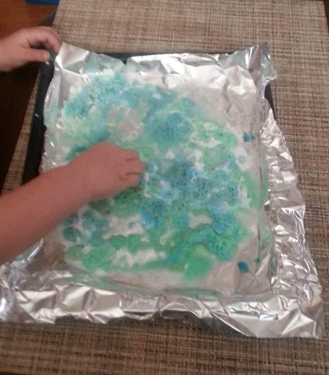 baking soda sensory play