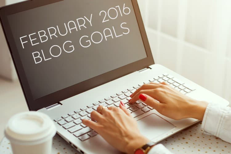 Monthly Blog and Personal Goals: February 2016