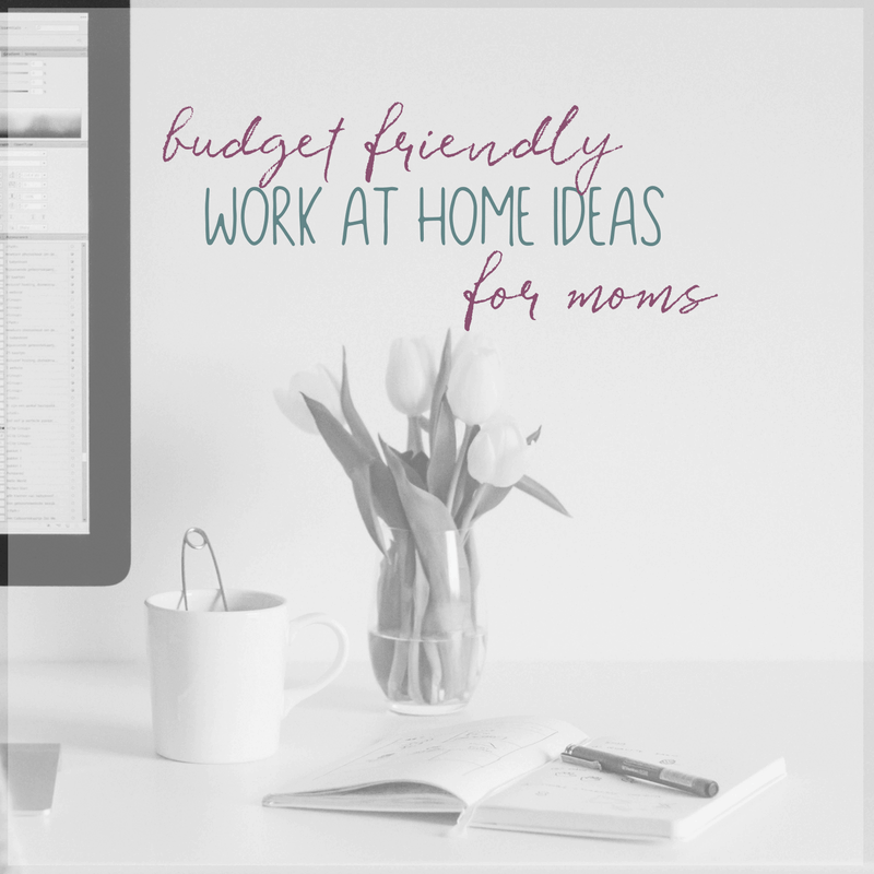 Are you thinking about working at home but doubtful that you can make it work on your budget? Here are a few budget friendly work at home ideas for moms to consider.