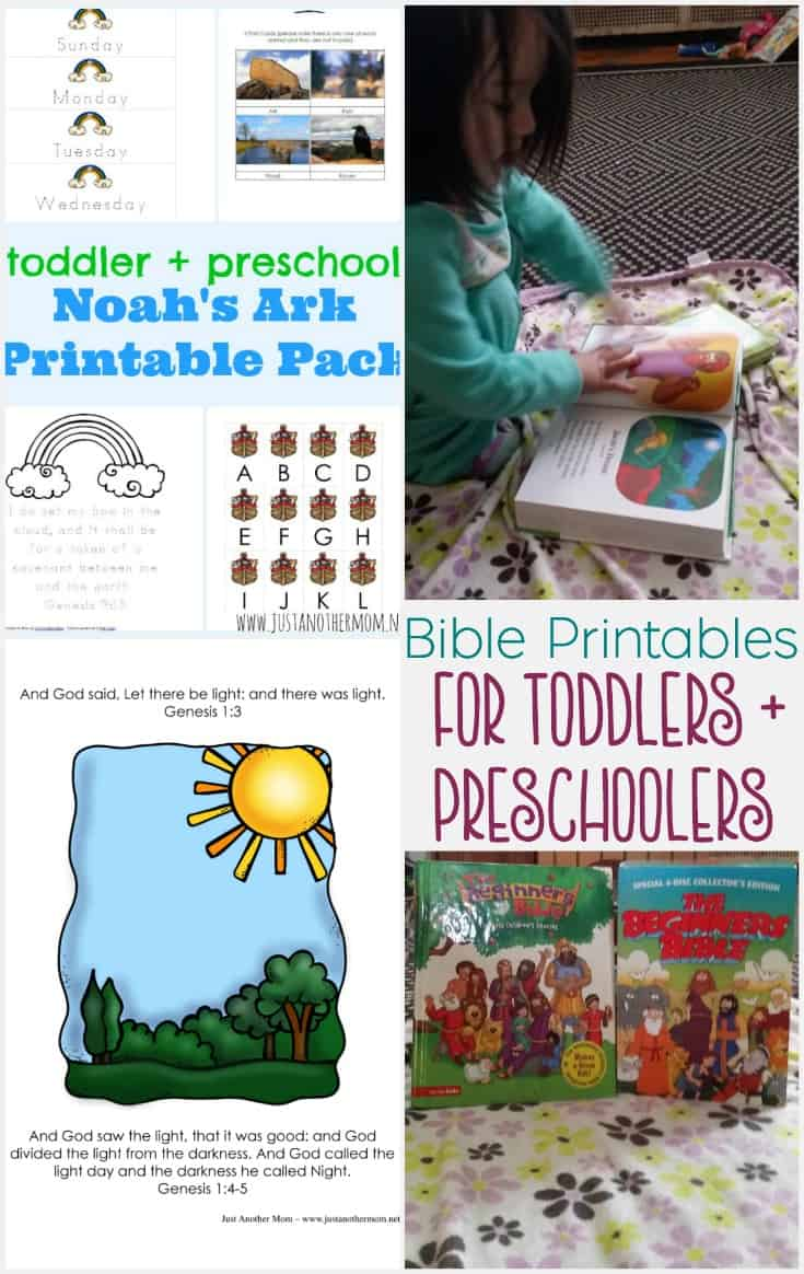 Bible printables for toddlers and preschoolers pin