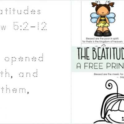 The Beatitudes for Kids Printable Pack