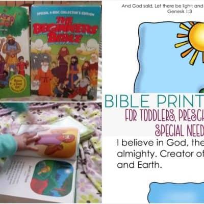 Bible Printable Packs for Kids