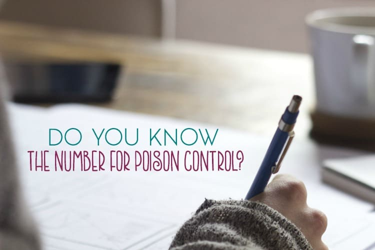 It's quite possibly one of the most important phone numbers that you could know as a parent. But do you know the number for poison control?