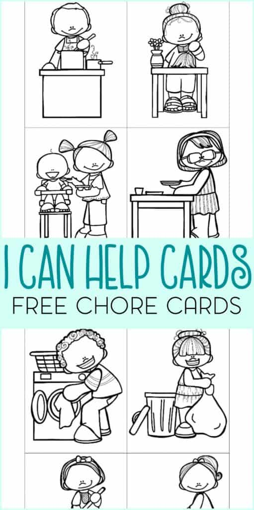 free pritnable chore cards