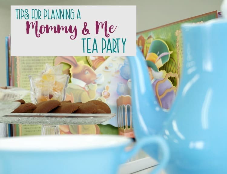 A mommy and me tea party can be fun at any time of the year but especially on Mother's Day.