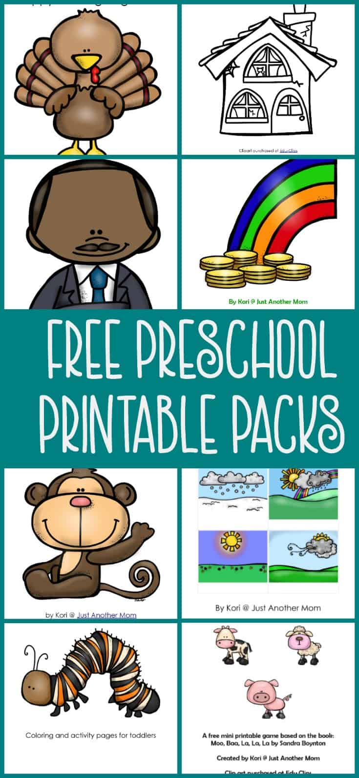 Are you planning to do tot school or preschool at home? Maybe you're looking for some resources for your home daycare? Be sure to check out my free preschool printable packs.