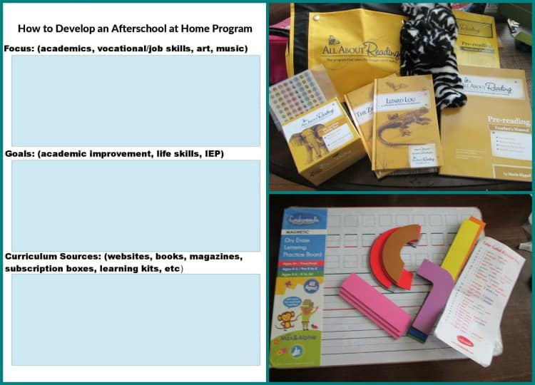 Are you interested in starting an afterschool at home program for your child but unsure of where to start? Come check out this post which includes a free printable planning workbook.