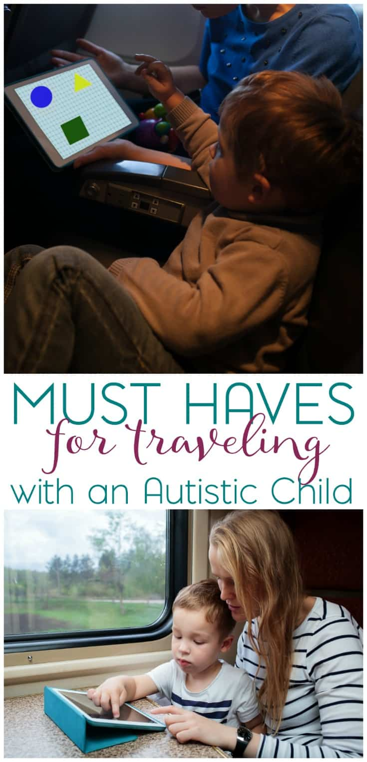 Are you planning to travel with your autistic child? Take a look at my must haves for traveling and let me know what your must have items are! #empoweringdifferent #ad
