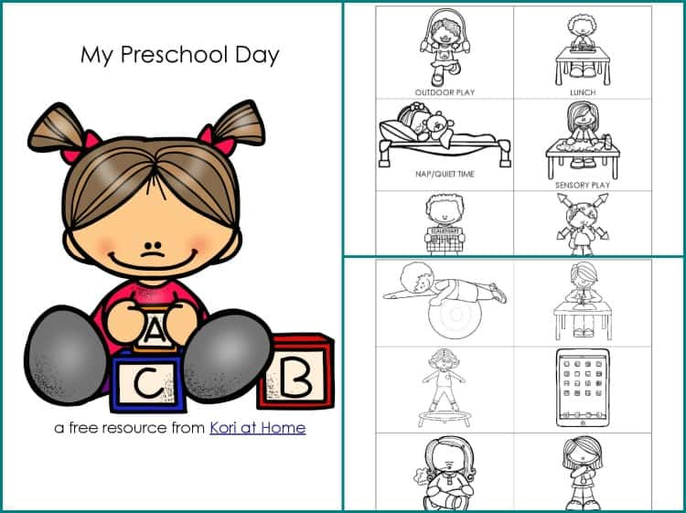 image regarding Free Printable Visual Schedule for Preschool named Free of charge Printable Preschool Agenda