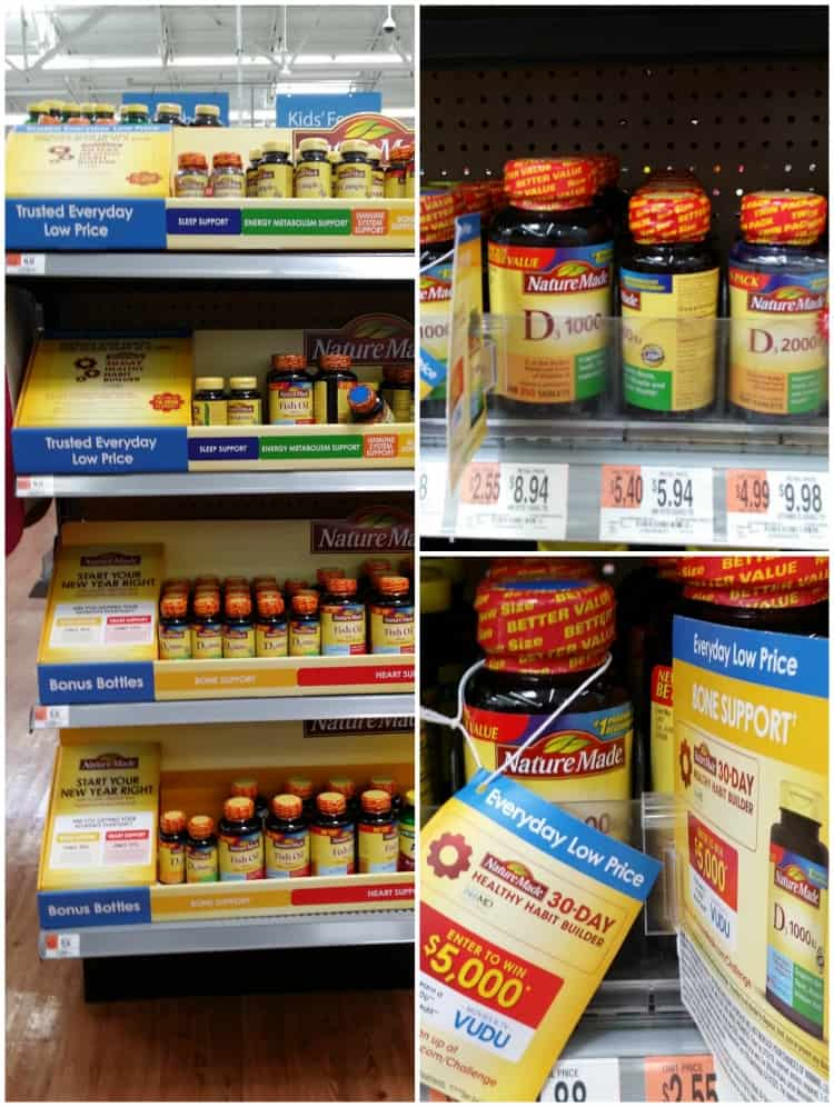 naturemade vitamins at Walmart