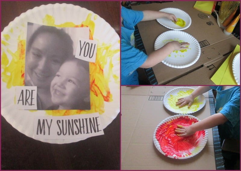 In search of a sweet idea for Mother's Day that's sure to brighten up mom's day? Try this adorable paper plate craft based on You Are My Sunshine.