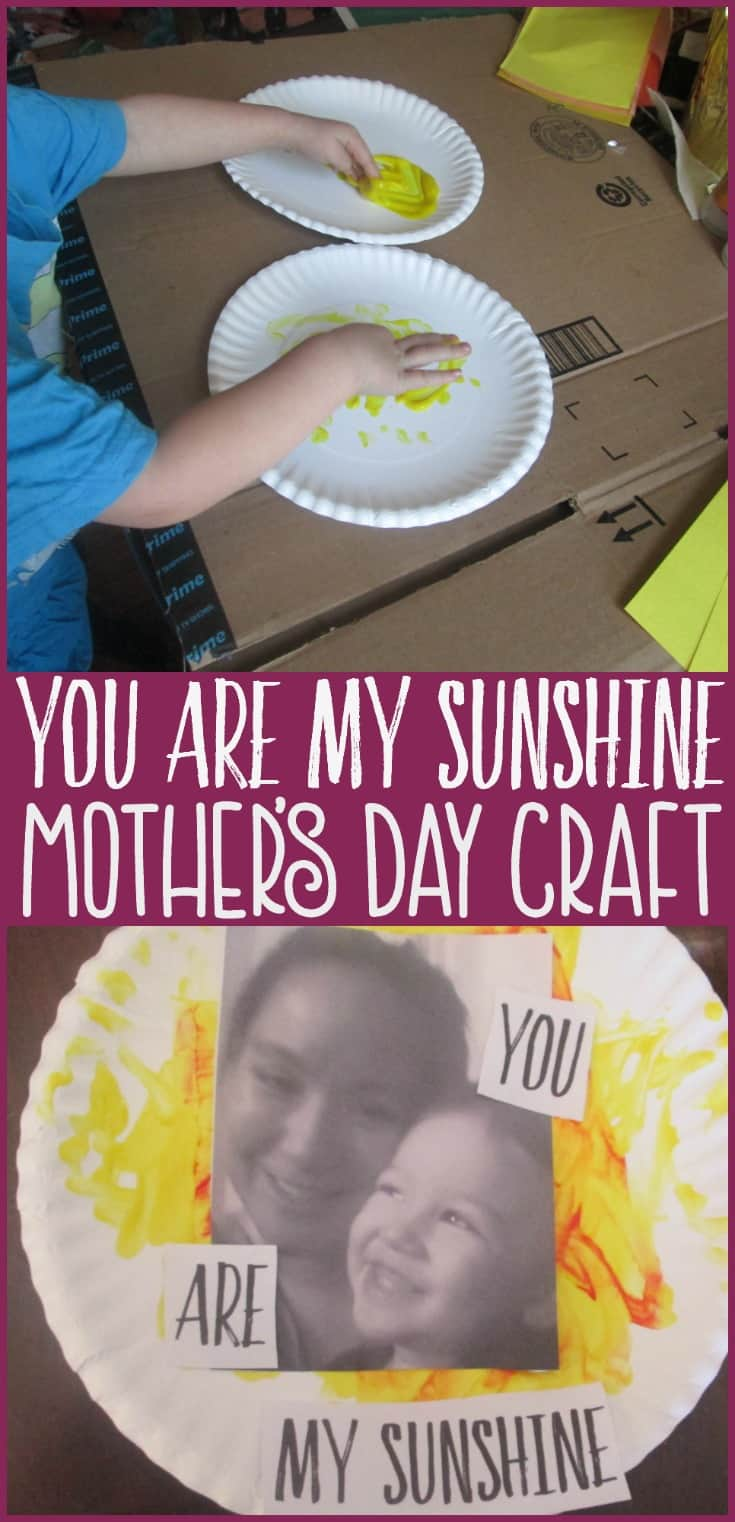 In search of a simple yet meaningful craft for Mother's Day? Come take a look at this easy paper plate craft inspired by the song You Are My Sunshine. Sure to brighten up mom's day.