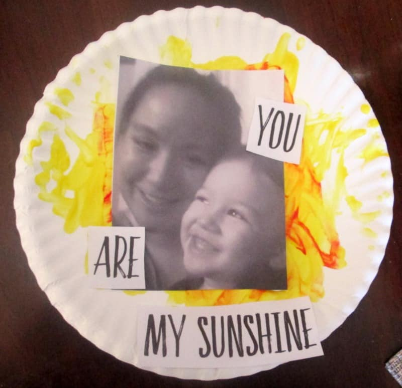 you are my sunshine paper plate craft