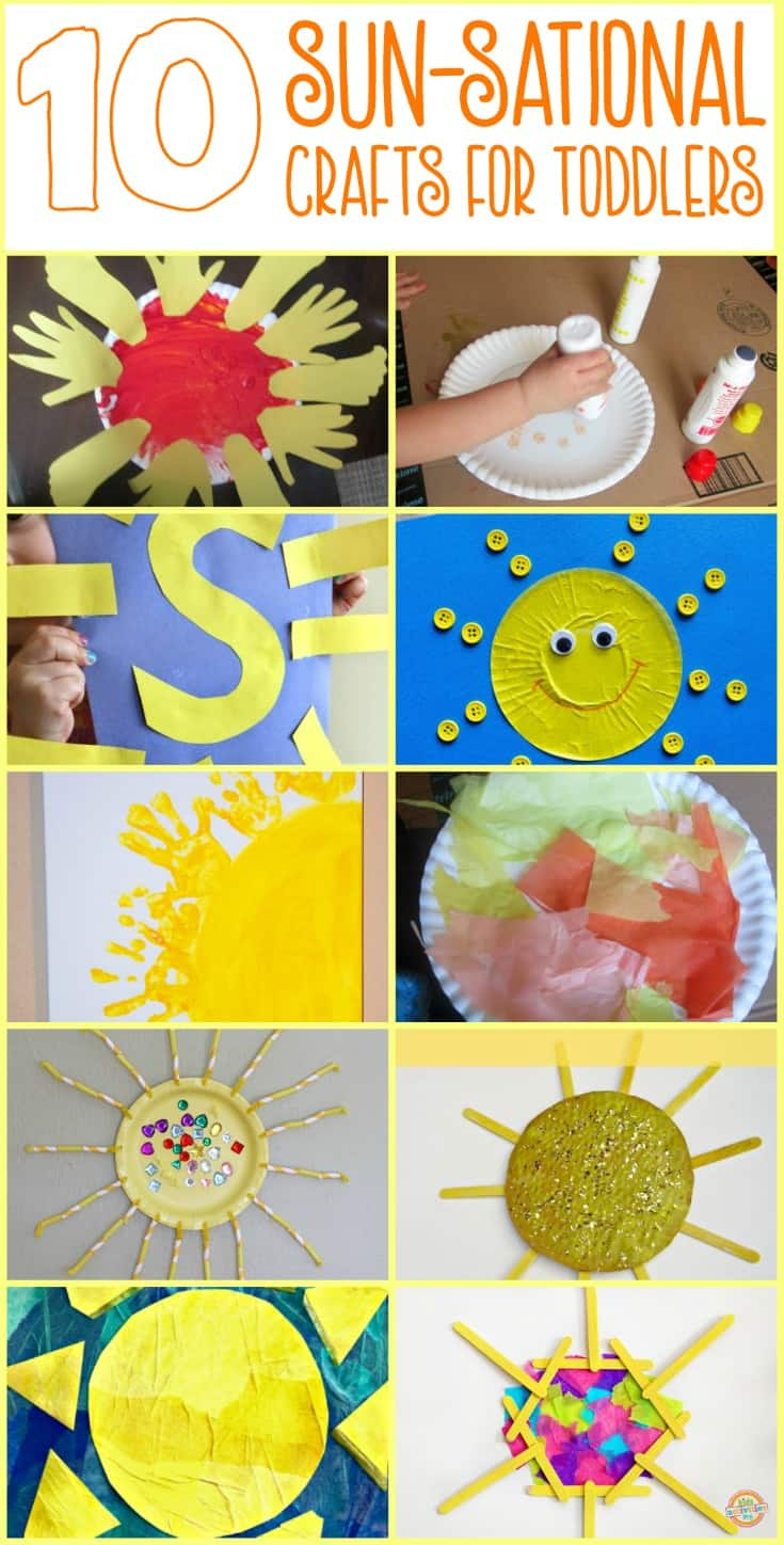 Let the sun shine in with these easy sun themed crafts for toddlers and preschoolers.