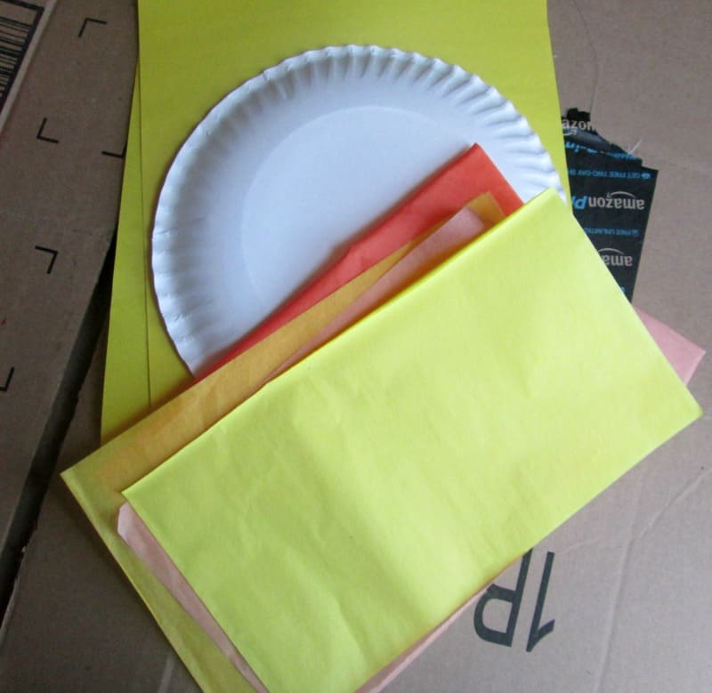 tissue paper sun supplies