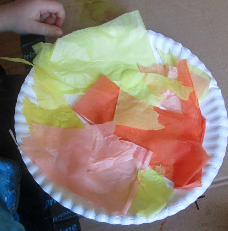tissue paper sun