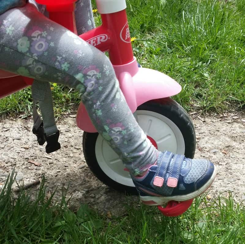 toddler on a trike