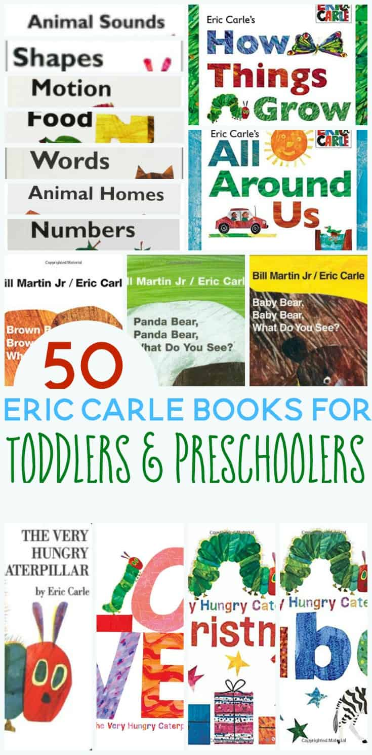 50 eric carle books for toddlers and preschoolers