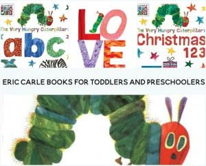 Beloved and world renowned children's author and illustrator Eric Carle is a favorite in our house. Here's my list of Eric Carle books for toddlers and preschoolers.
