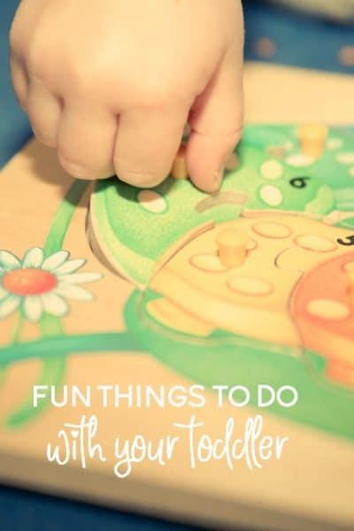 Let's face it, even as a stay at home mom, sometimes we need a break from playing. Here are fun things to do with your toddler that they can also do alone or with minimal adult participation.