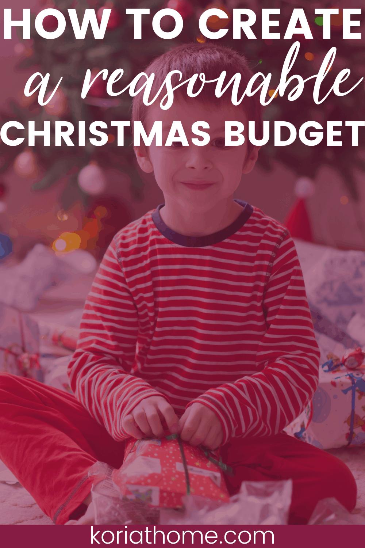 How to Create a Reasonable Christmas Budget 1