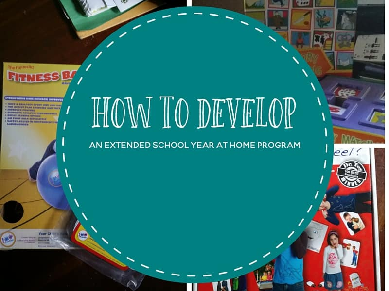 How to Develop an ESY Program at Home