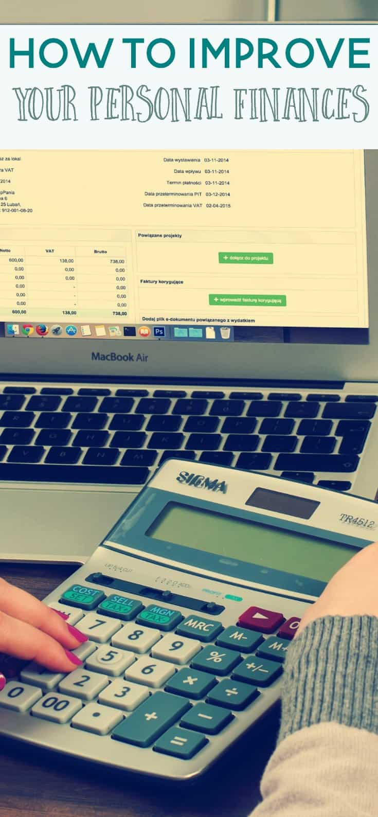 how to improve your personal finances pin