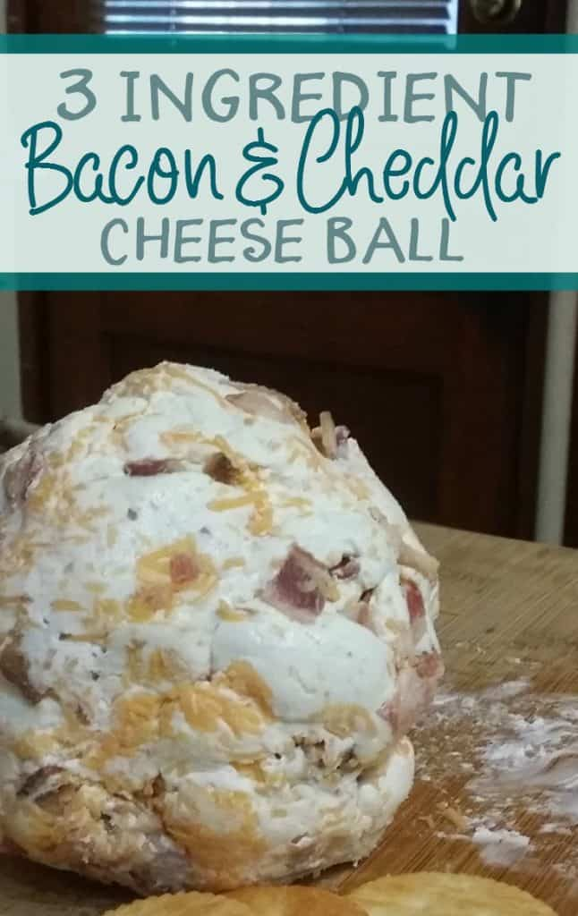 Appetizers don't get much simpler than this three ingredient bacon and cheddar cheese ball.