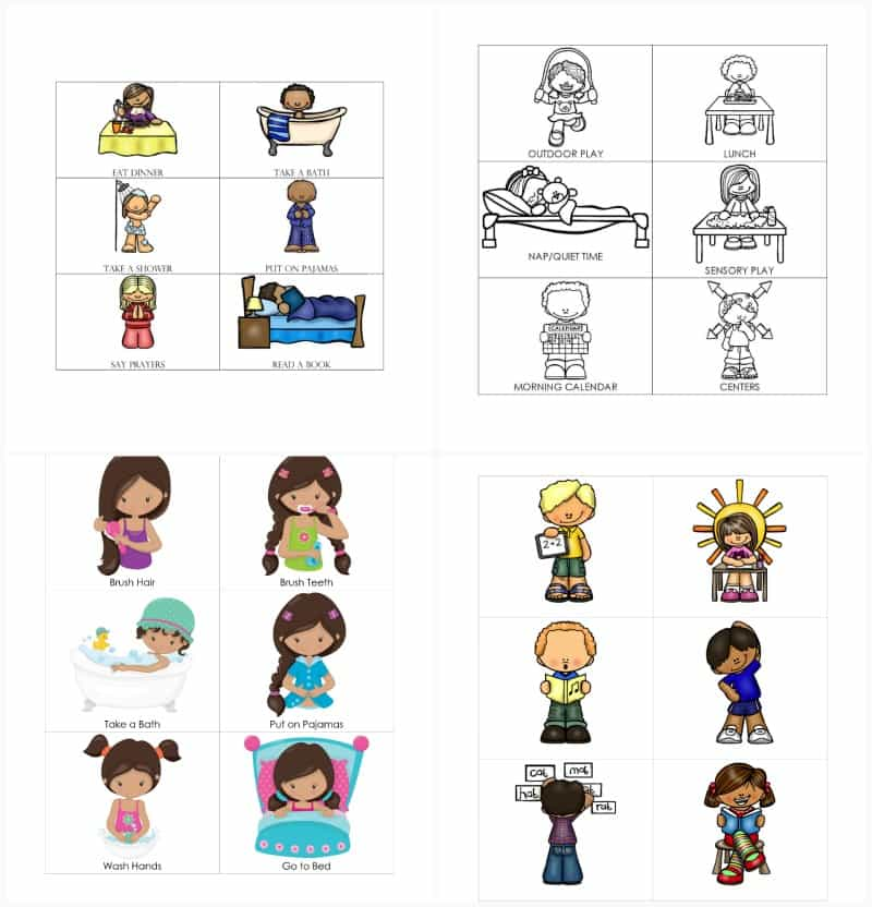 examples of visual schedules for nonverbal autism