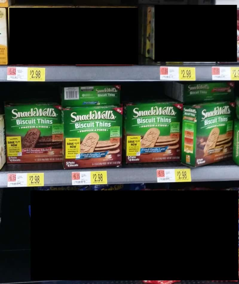 snackwell biscuit thins on the shelf