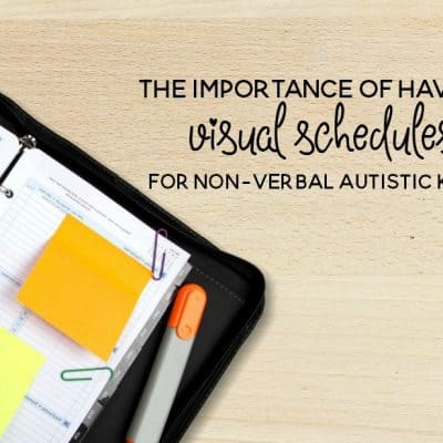 The Importance of Visual Schedules for Non Verbal Autistic Children