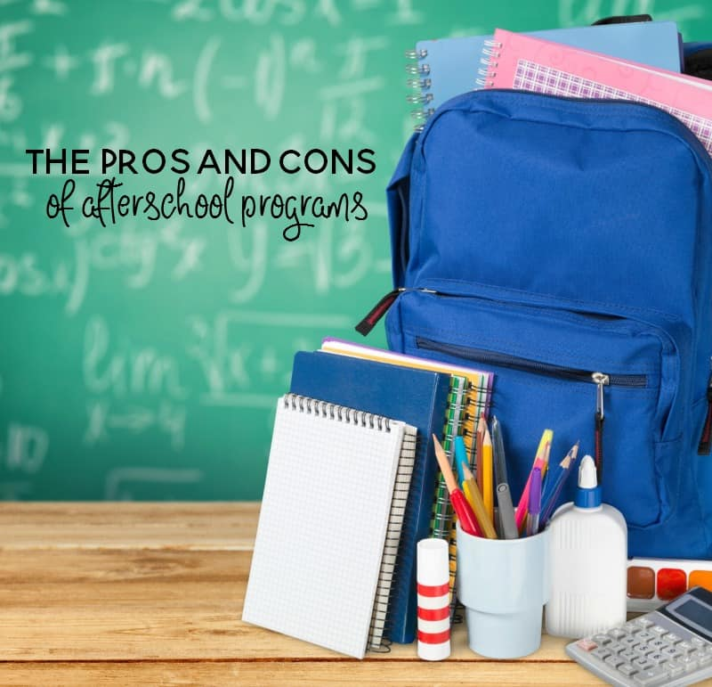 the pros and cons of afterschool programs for kids
