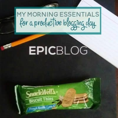Morning Essentials for a Productive Blogging Day