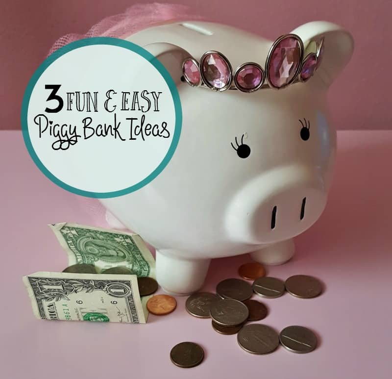 3 fun and easy piggy bank ideas for kids for How to make a simple piggy bank