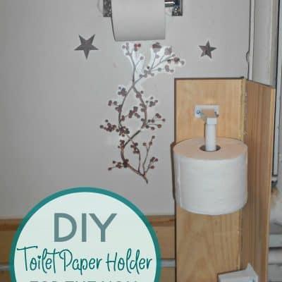 DIY Toilet Paper Holder for the Non-DIYer