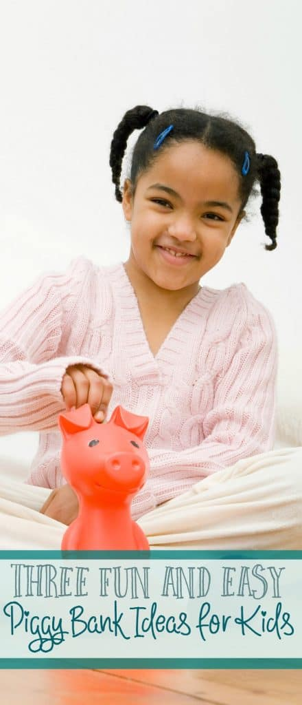 No matter what age you are, piggy banks are such a fun way to save money! Here are 3 fun and easy piggy bank ideas for kids.