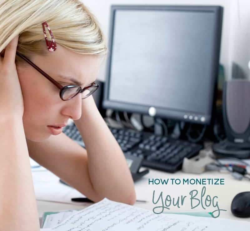 how to monetize your blog without too much stress