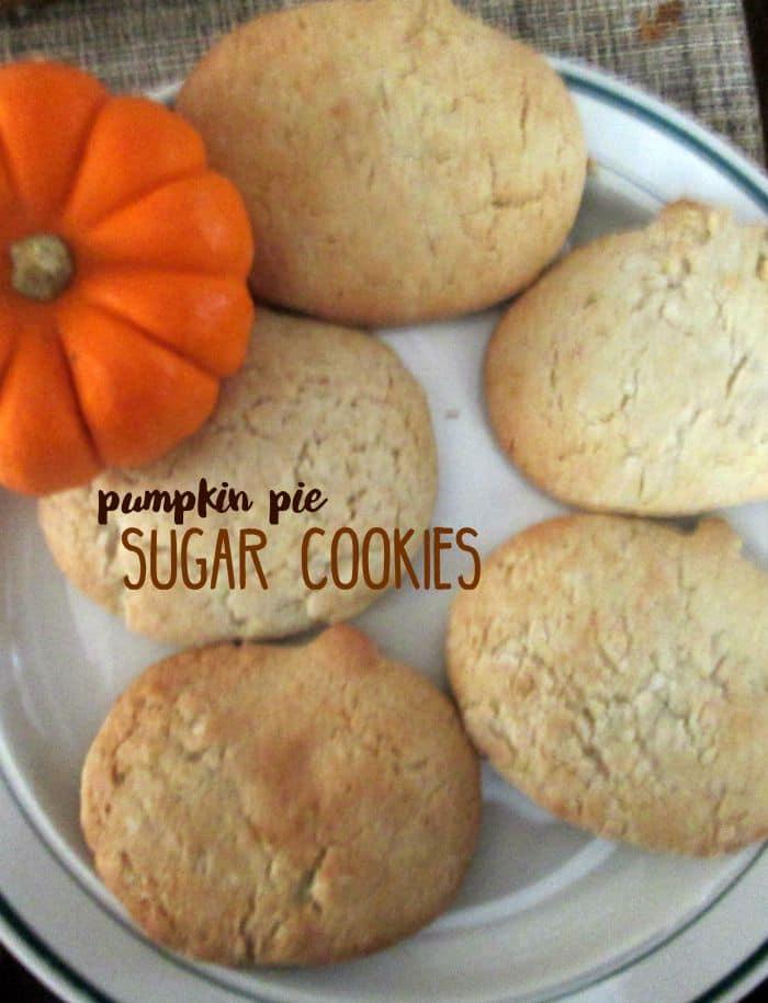 Pumpkin Pie Sugar Cookies