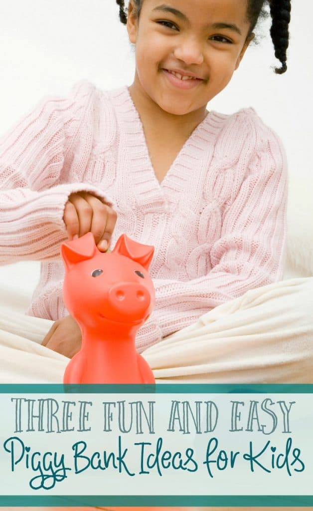 A piggy bank is such a fun way to save money! Here are 3 fun and easy piggy bank ideas for kids.