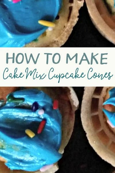 How to Make Cupcake Cones from Boxed Cake Mix