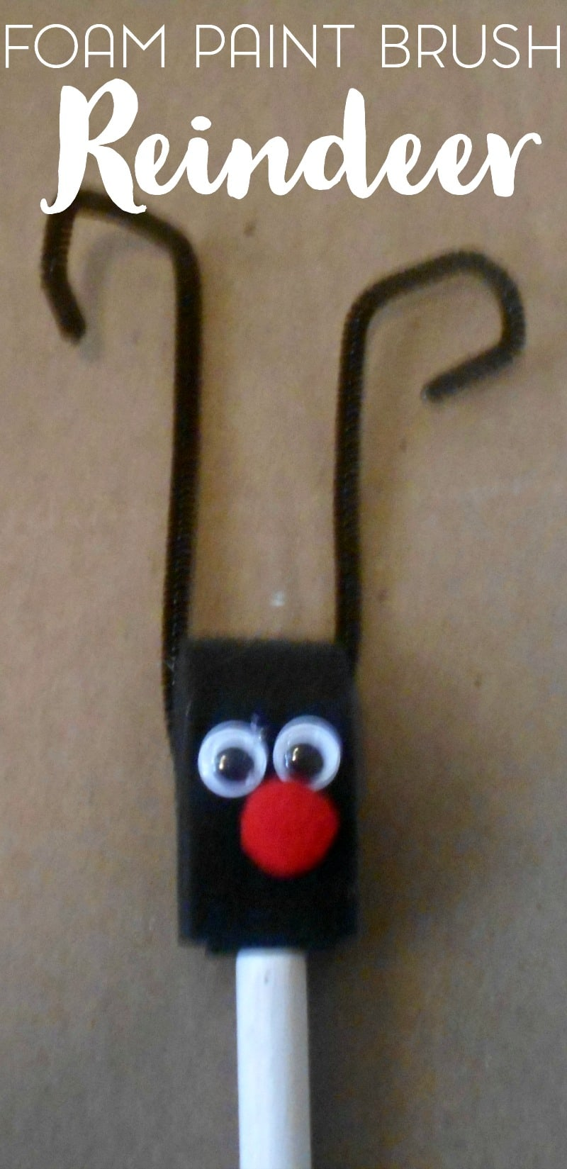 foam-paint-brush-reindeer-craft