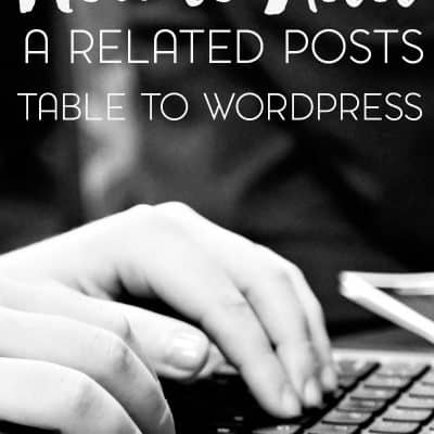 How to Create a Related Posts Table for WordPress Without a Plugin