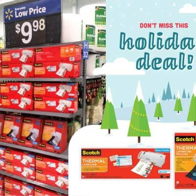 Still Time to Save on Scotch Laminators and Pouches at Walmart