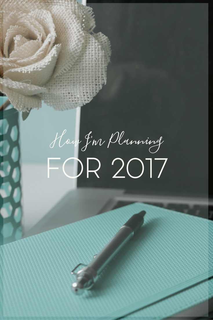How far in advance do you plan? Sometimes I like to plan further ahead but here's how I'm planning for success in 2017