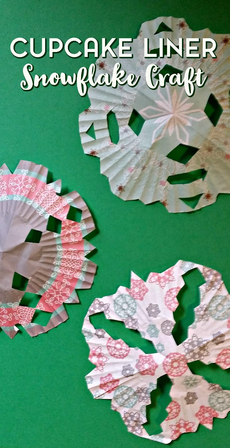 kid-made-cupcake-liner-snowflake-craft