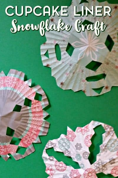 Easy Cupcake Liner Snowflake Craft for Kids