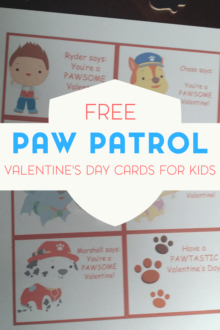 If you have a Paw Patrol fan in your life, be sure to check out my free printable Valentine's Day cards inspired by Paw Patrol!