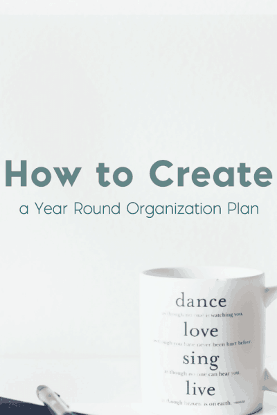 How to Create a Year Round Organization Plan